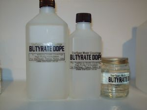 cellulose dope 1 litre for model covering,StarSpan brand butyrate, clear dope formula made with cellulose butyrate, ideal for use with all types of model construction when covering with any type of model covering